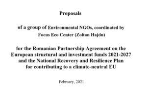Romanian NGO proposals and comments for the NRRP